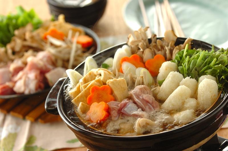 マイタケ香るきりたんぽ鍋