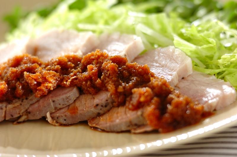 ゆで豚のおろしコチュジャンダレの作り方の手順