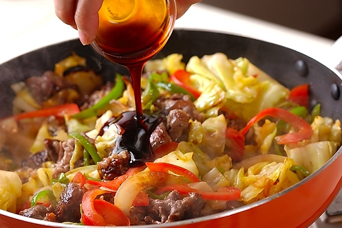 牛肉と野菜の炒め物の作り方3