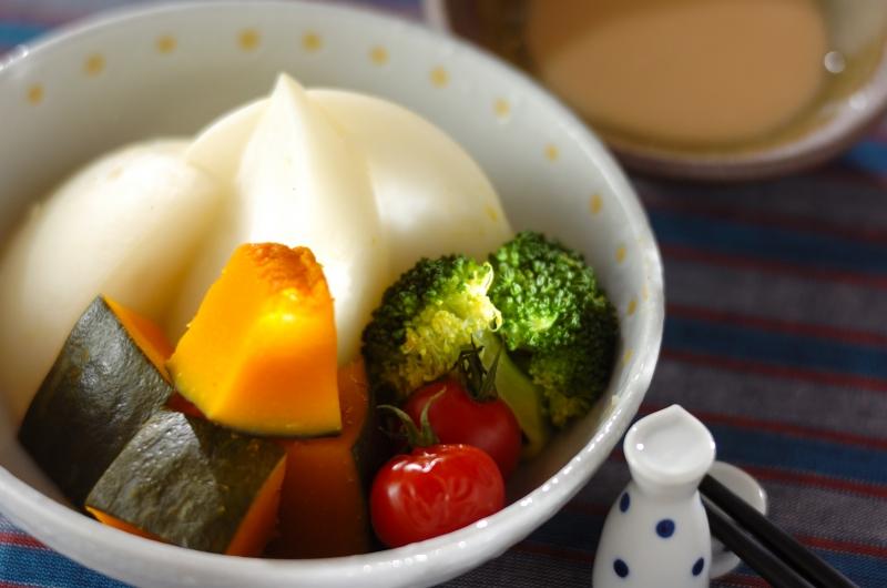 彩り蒸し野菜の作り方の手順