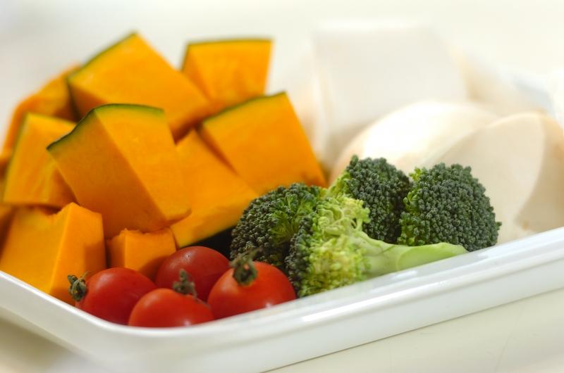 彩り蒸し野菜の作り方の手順1