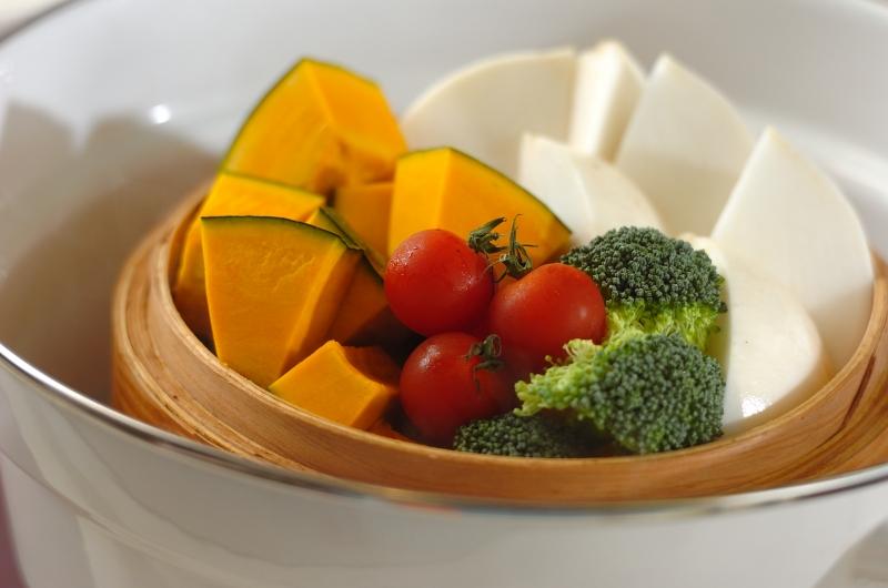彩り蒸し野菜の作り方の手順2