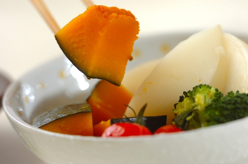 彩り蒸し野菜の作り方の手順3