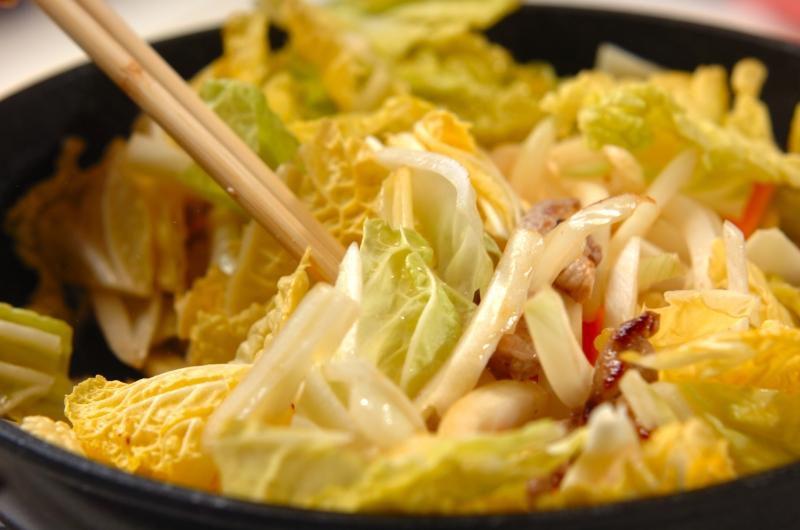 白菜たっぷり皿うどんの作り方1