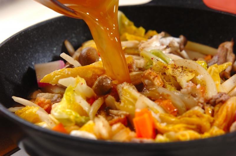 白菜たっぷり皿うどんの作り方の手順5