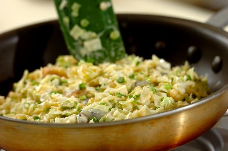 半熟卵のせネギたっぷりお好み焼きの作り方の手順6