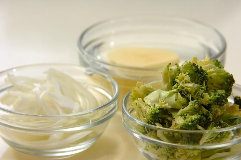 ブロッコリーのポタージュスープの作り方の手順1