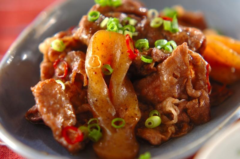 牛肉のピリ辛炒め煮の作り方の手順