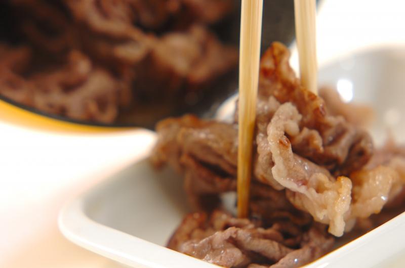 牛肉のピリ辛炒め煮の作り方の手順2