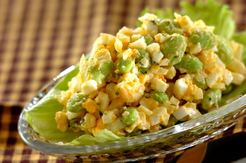 枝豆入り卵サラダの作り方の手順