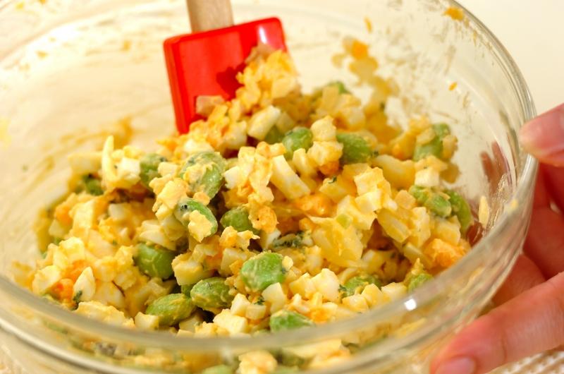 枝豆入り卵サラダの作り方の手順2
