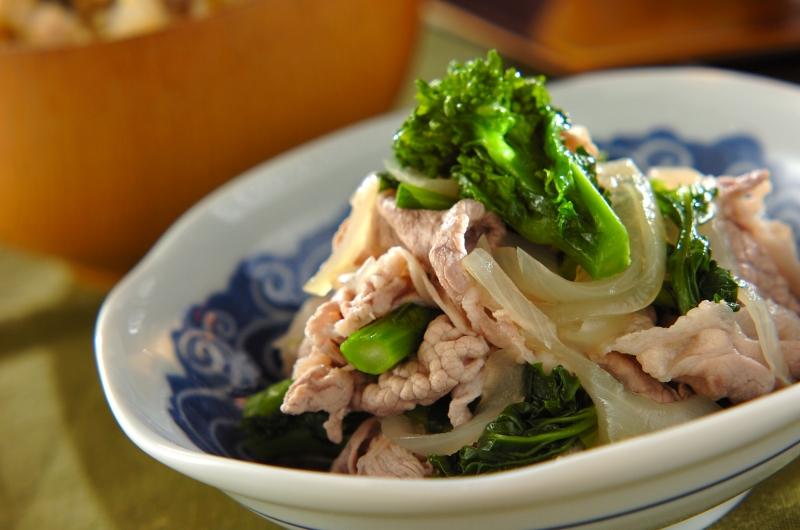 豚と菜の花のサッパリ煮の作り方の手順