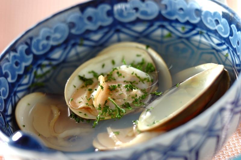 ハマグリの酒蒸しスープの作り方の手順