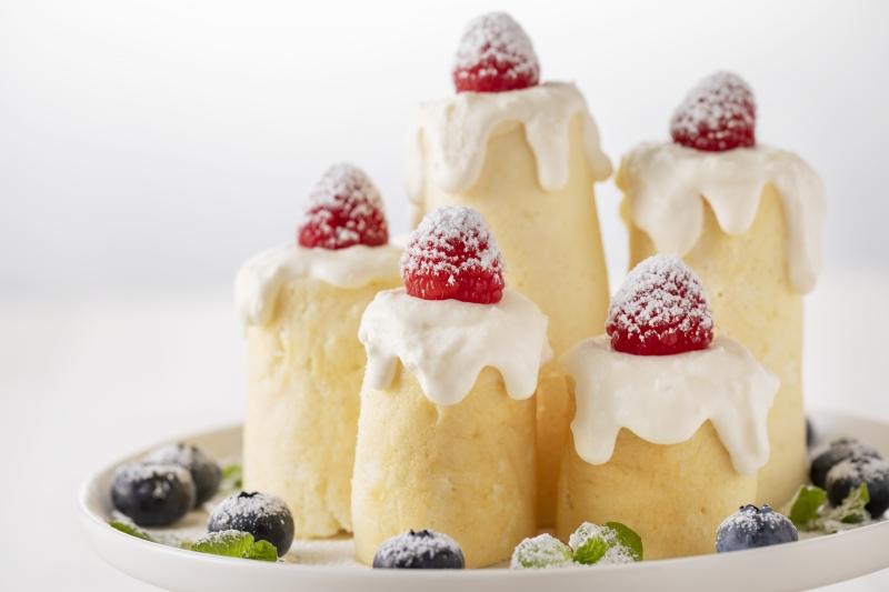 フライパンでできる!聖なる夜のホワイトキャンドルケーキの作り方の手順