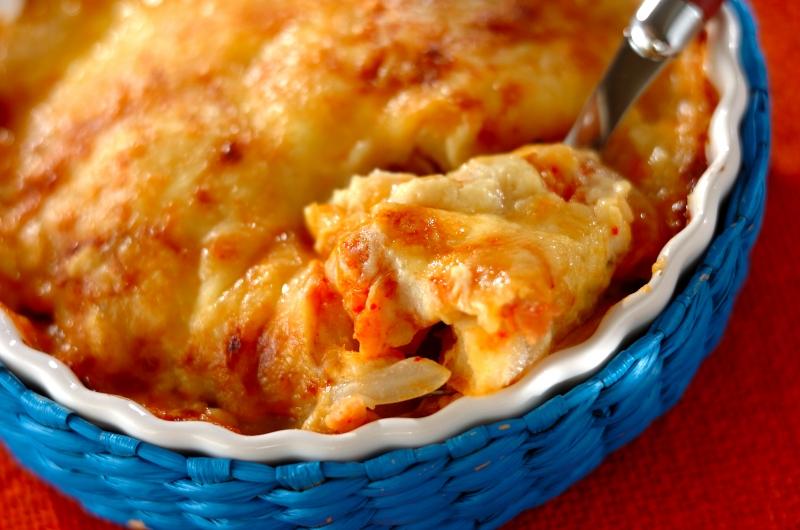 キムチチーズグラタンの作り方の手順