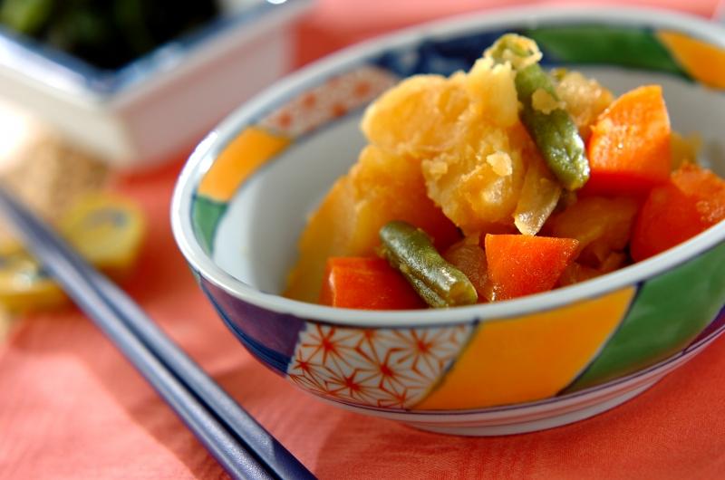 ほくほくジャガイモとインゲンの煮物