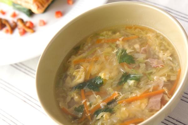白菜のスープの作り方の手順