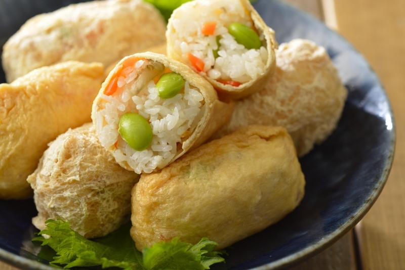 レンジで簡単いなり寿司