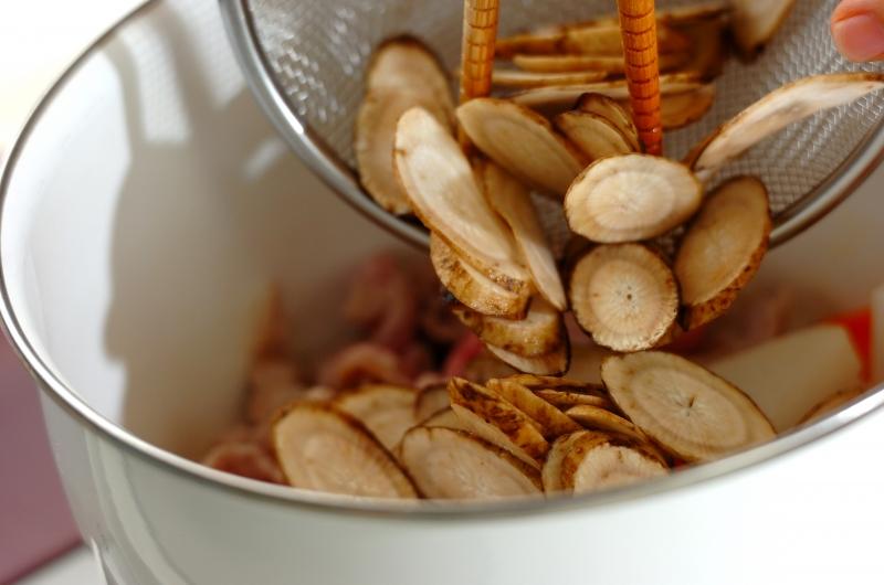 塩麹豚汁の作り方の手順2