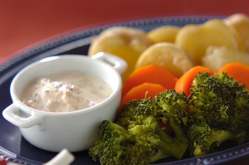 蒸し野菜 トンナートソースの作り方の手順