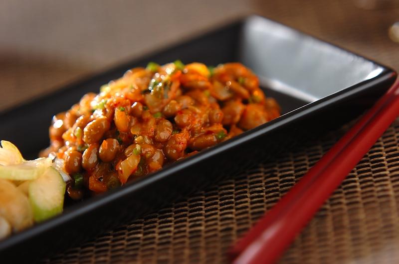 納豆キムチの作り方の手順
