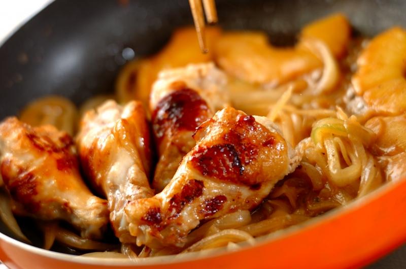 調味料2つ!鶏手羽元のシロップ照り焼きの作り方の手順5
