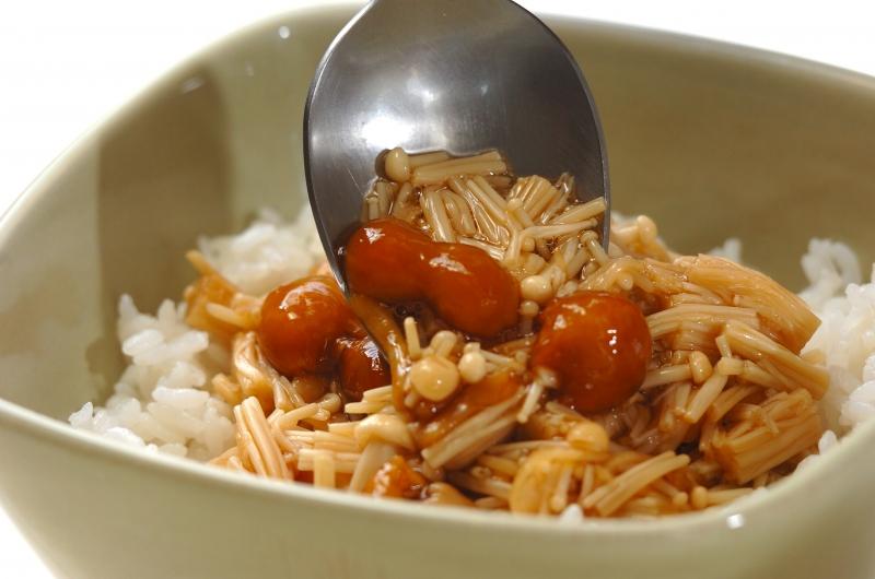ショウガナメタケのっけご飯の作り方の手順3