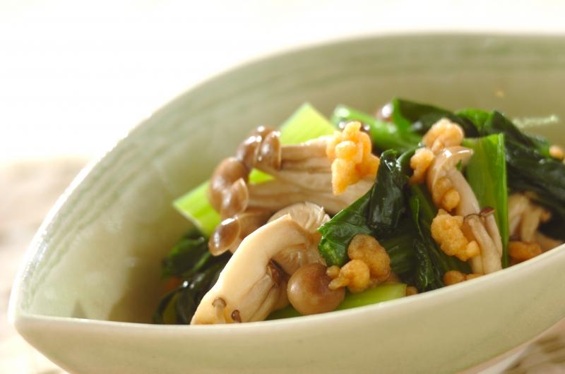 小松菜の天かす和えの作り方の手順