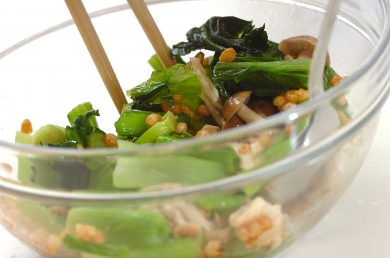 小松菜の天かす和えの作り方の手順2