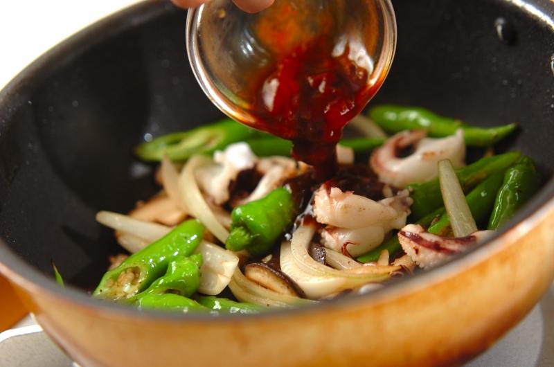 イカゲソのソース炒めの作り方の手順7