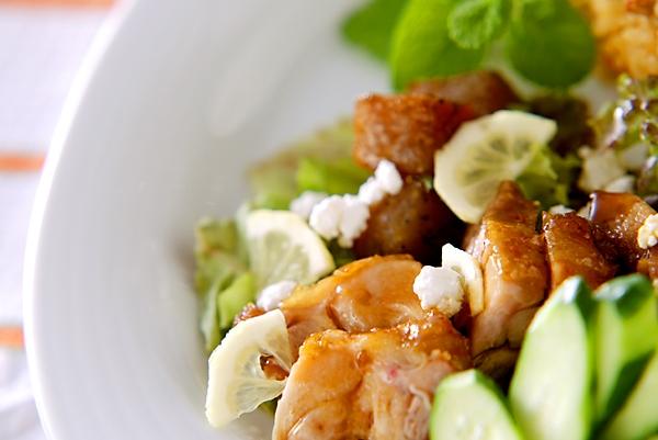 鶏照り焼きサラダ仕立ての作り方の手順