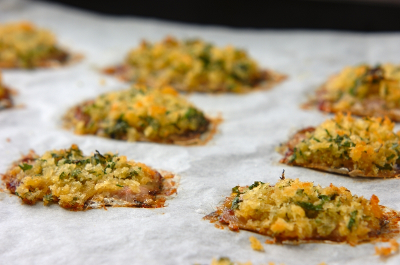 イワシの香草パン粉焼きの作り方の手順5