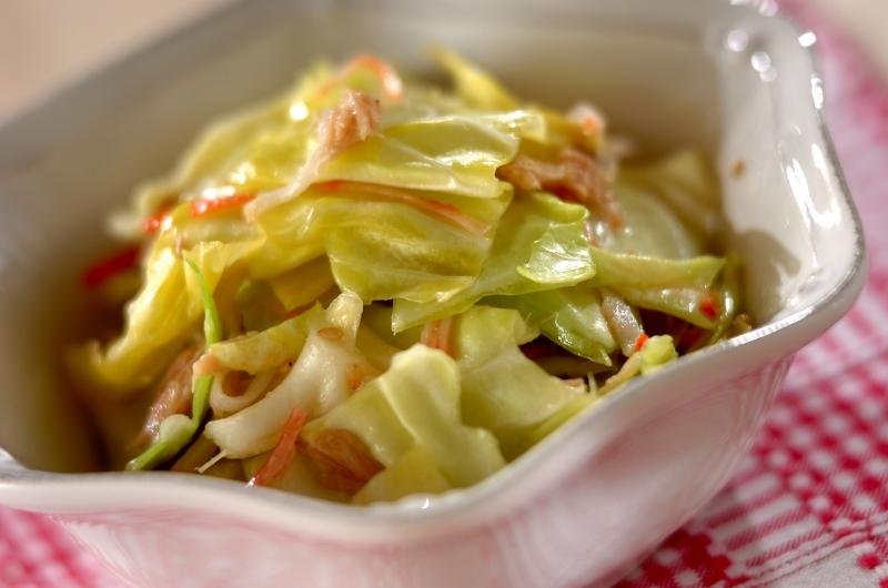 キャベツとツナの簡単酢サラダ