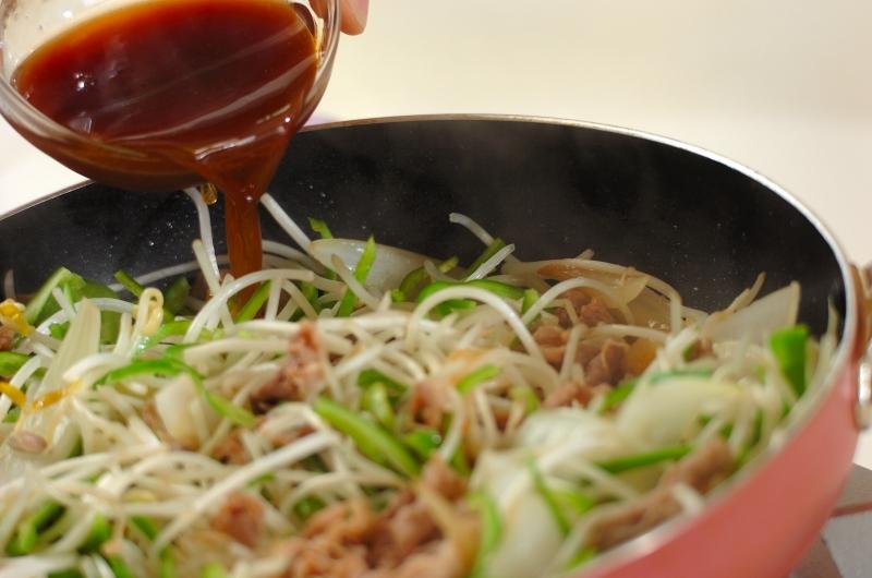 豚とモヤシの中華炒めの作り方の手順5