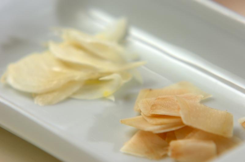 モヤシとザーサイのナムルのフォーの作り方の手順1