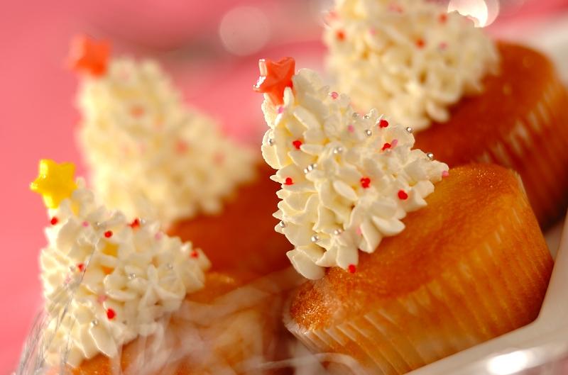 ホワイトツリーのカップケーキ