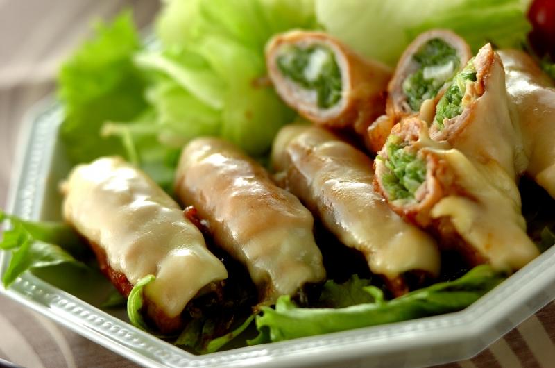 豚肉のチーズネギ巻き