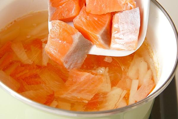 塩鮭の粕汁の作り方の手順6