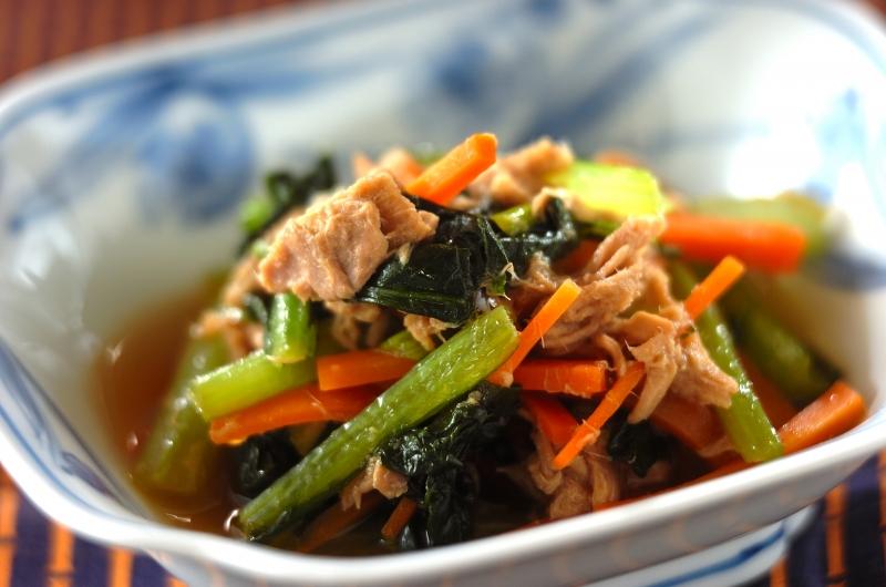 小松菜とツナのサッと煮