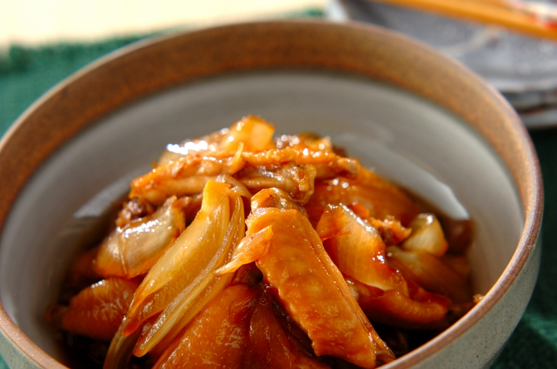 鶏肉と玉ネギの甘辛煮の作り方の手順