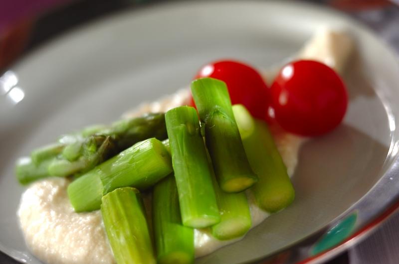 グリーンアスパラと豆腐マヨの作り方の手順
