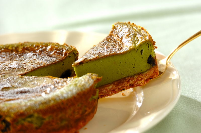 抹茶のNYチーズケーキ