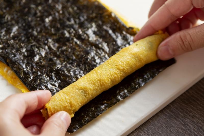 くるくる海苔卵焼きの作り方の手順6