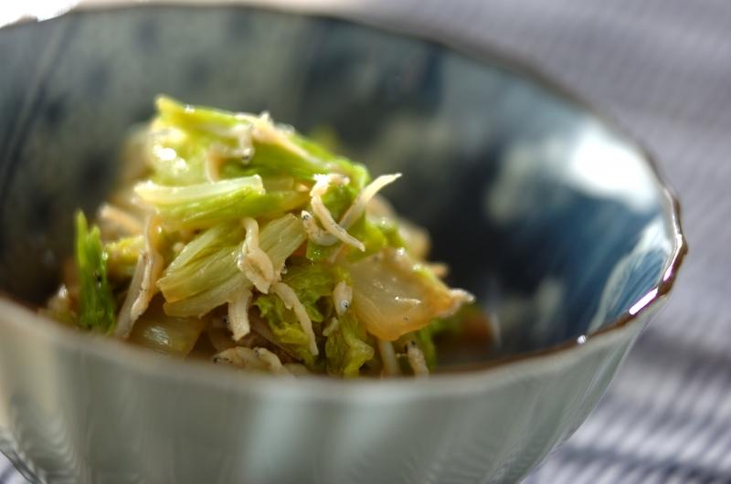 白菜とシラスの蒸し煮
