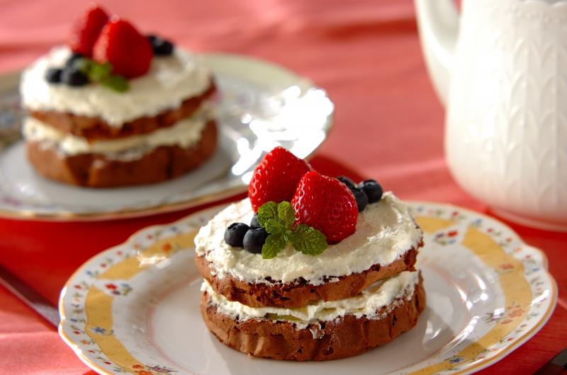 レンジで簡単チョコスポンジのケーキ