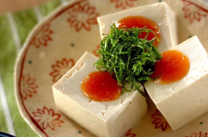 豆腐の香味みそのせ