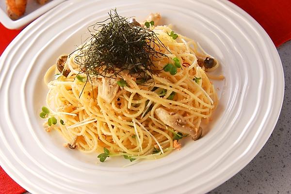 ニンニク香る!タラコスパゲティーの作り方の手順
