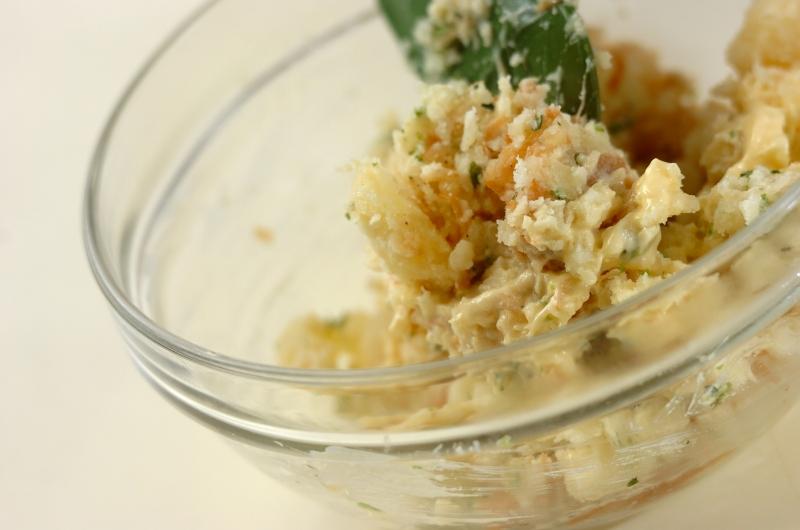 ナメタケのポテトサラダの作り方1