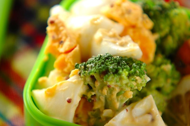 彩り副菜!ゆで卵とブロッコリーのサラダ