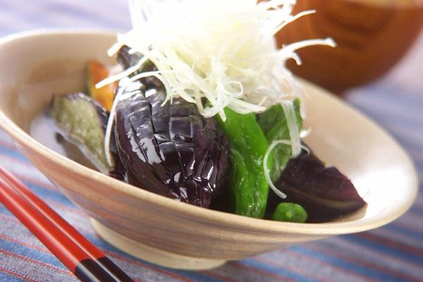 野菜の揚げびたしの作り方の手順